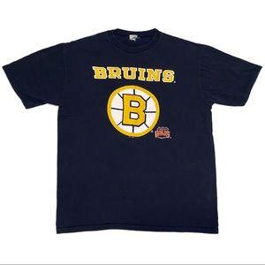 Vintage 1990 Boston Bruins Single-Stitch Retro NHL